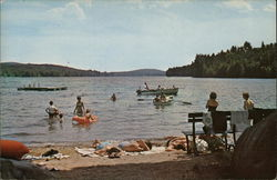 Bathing and Boating at Friends Lake, New York