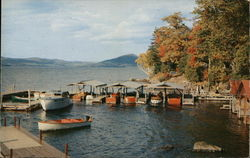 Docks in front of Irish;s Store at Pilot Knob