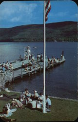 Pier and Promenade, Lake George in the Adirondacks