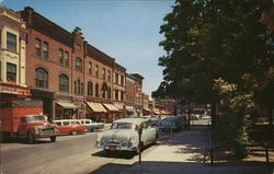 Part of the Business District and Park, Ballston Spa, New York