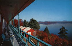Look Off Rock Motel & Cottages, Lake Winnipesaukee Postcard