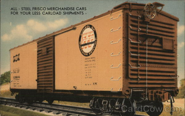 Frisco Merchandise Car Trains, Railroad
