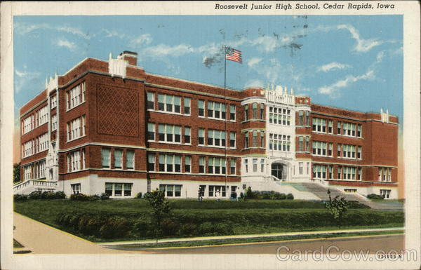 Roosevelt Junior High School Cedar Rapids Iowa