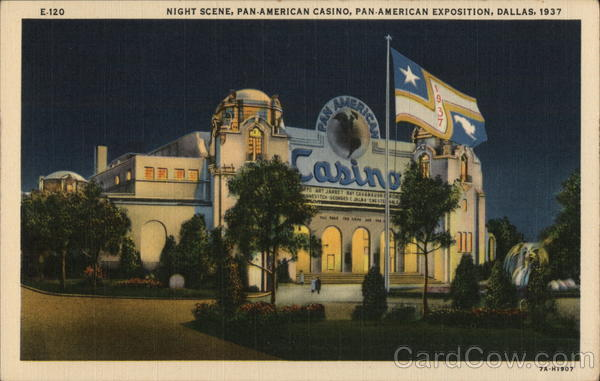 Night Scene, Pan-American Casino Dallas Texas Exposition
