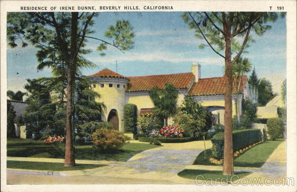 Residence of Irene Dunne Beverly Hills California