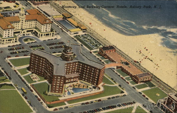 Monterey and Berkeley Carteret Hotels Asbury Park New Jersey