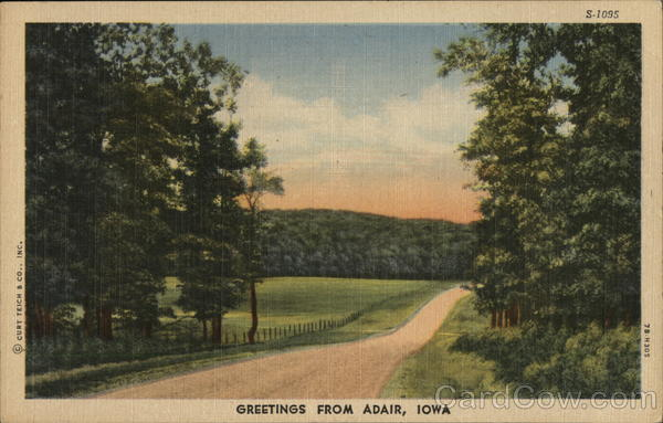 Greetings from Adair Iowa