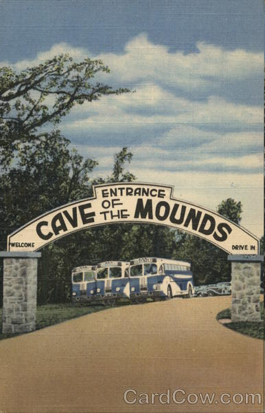 Entrance Cave of the Mounds Blue Mounds Wisconsin Buses
