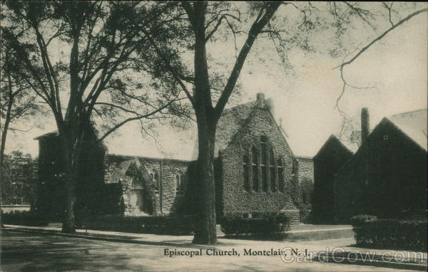 Black and White Picture of Episcopal Church Montclair New Jersey