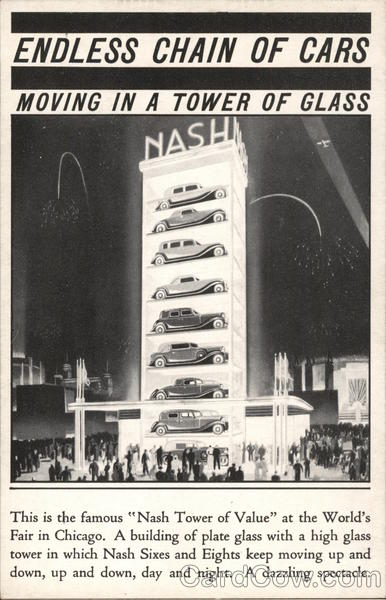 Nash Tower of Value 1933 Chicago World Fair