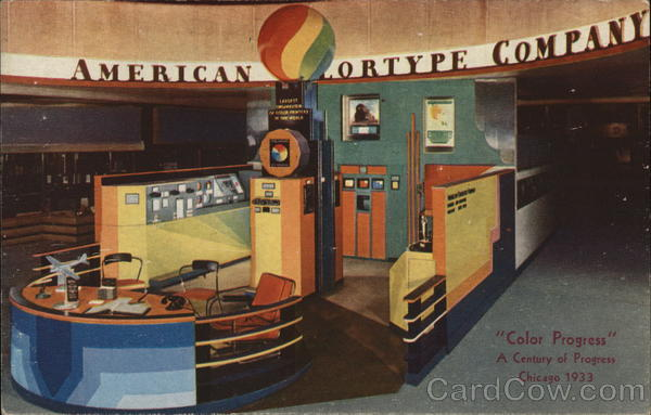 American Colortype Company Chicago Illinois 1933 Chicago World Fair