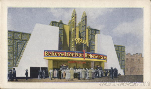 Ripley's Believe It or Not 1933 Chicago World Fair
