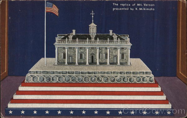 Replica of Mount Vernon, Home of Geo. Washington - A Century of Progress Chicago Illinois