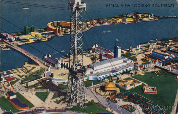 Aerial View Looking South 1933 Chicago World Fair