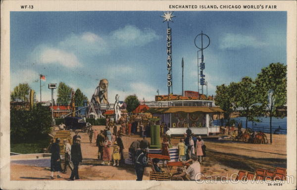 Enchanted Island, A Playground For Children - Chicago World's Fair Illinois