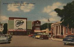Indiana Avenue, Showing U.S. Post Office and Athens Theatre