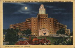 New Army and Navy Hospital by Moonlight, Under Supervision of U. S. Government, Cost $1,500,00