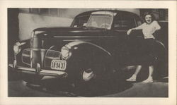 Judy Garlamnd and Her First Car, a 1940 Studebaker Champion