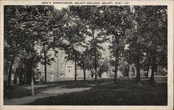 Men's Dormitories, Beloit College Postcard