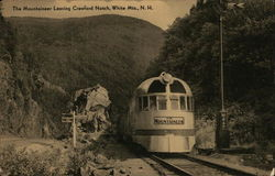 The Mountaineer Leaving Crawford Notch, White Mountains, N. H.