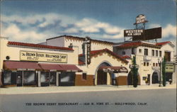 The Brown Derby Restaurant-1628 N. Vine St.