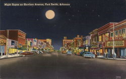 Night Scene on Garrison Avenue, Fort Smith, Arkansas