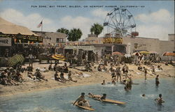 Fun Zone, Bay Front, Balboa, On Newport Harbor, California