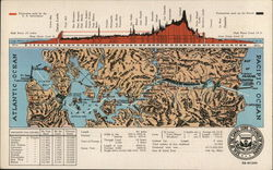 Panama Canal - Map and Cross Section