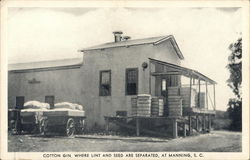 Cotton Gin, Where Lint and Seed Are Separated