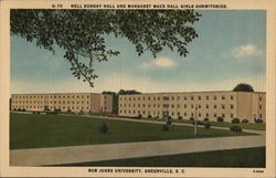 Nell Sunday Hall and Margaret Mack Hall - Bob Jones University Postcard