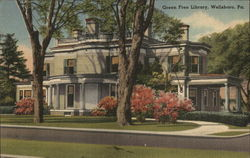 Green Free Library Postcard