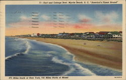 "Surf and Cottage Row, ""America's Finest Strand"""