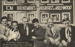Tom Breneman, John Masterson, Bobby Filipino, Jo Wilcox, Carl Webster Pierce, Uncle Corny