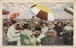Wilson & Company Terrace and Roof Garden Restaurants Postcard