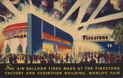See Air Balloon Tires Made at the Firestone Factory and Exhibition Building, World's Fair