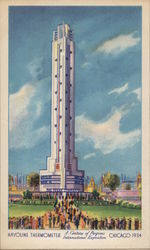 HAVOLINE THERMOMETER A CENTURY PF PROGRESS INTERNATIONAL EXPOSITION CHICAGO 1934 Postcard