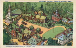 COLONIAL VILLAGE, CHICAGO WORLD'S FAIR Postcard