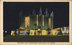 Travel and Transport Building at Night
