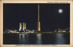 FEDERAL BUILDING SKY-RIDE ELECTRICAL GROUP Postcard