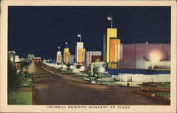 General Exhibits Building at Night