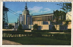 Illinois Host Building and Soldiers Field Colonnade Postcard