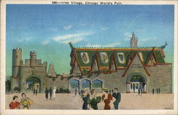 Irish Village, Chicago World's Fair Postcard