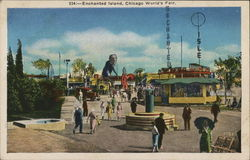 """Enchanted Island,"" A Playground For Children - Chicago World's Fair Postcard"