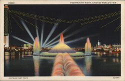 Fountain By Night - Chicago World's Fair