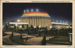 Ford Exposition Building by Night