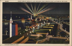 Night View of World's Fair Grounds from Observation Platform of Sky Ride