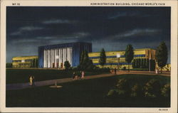 Administration Building By Night - Chicago World's Fair