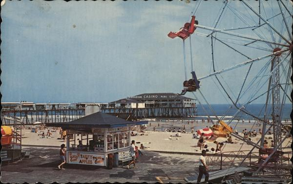 Amusement Area and Ocean Pier Old Orchard Beach Maine