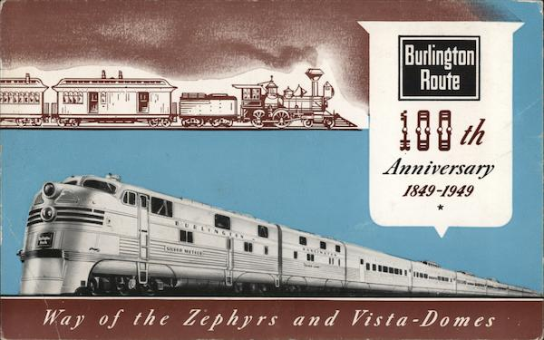 100th Anniversary of the Burlington Route Trains, Railroad
