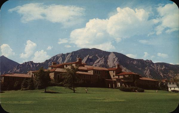 Men's Residence Halls and the Flatirons, University of Colorado Campus Boulder